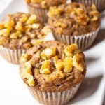 Paleo Banana Bread Muffins on a platter.