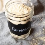 AIP grated parmesan in a mason jar.