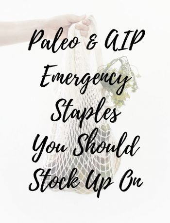 Paleo/AIP Emergency Staples Checklist feature image