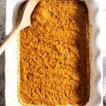 AIP Sweet Potato Baked N'Oatmeal in a baking dish