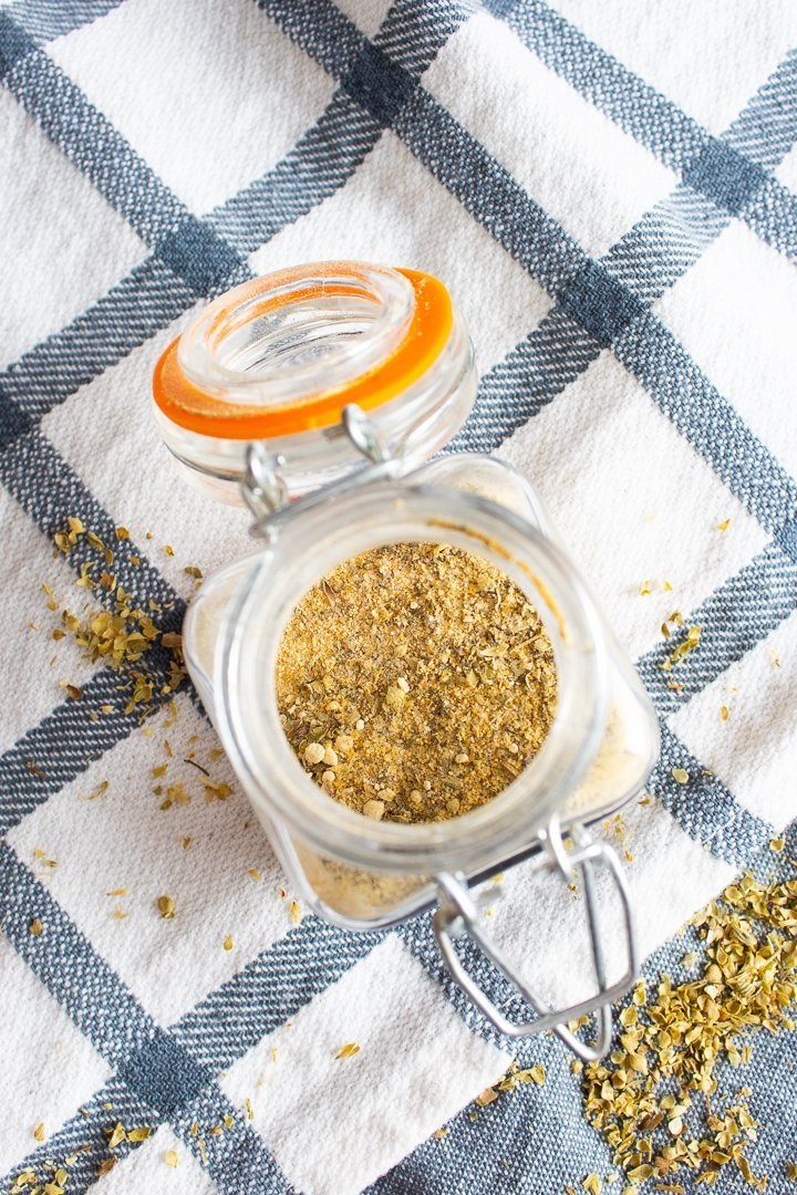 AIP All Purpose Seasoning in a spice jar.