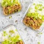 Korean Chicken Meal Prep Containers.