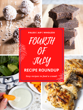 AIP 4th of July Recipe Round Up graphic.