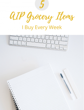 Cover photo for weekly AIP Grocery List.