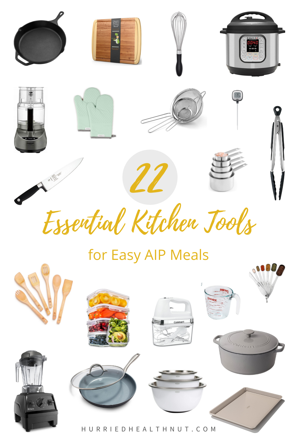 Cover photo collage for Essential AIP Kitchen Tools.